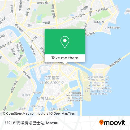 M218 翡翠廣場巴士站 map