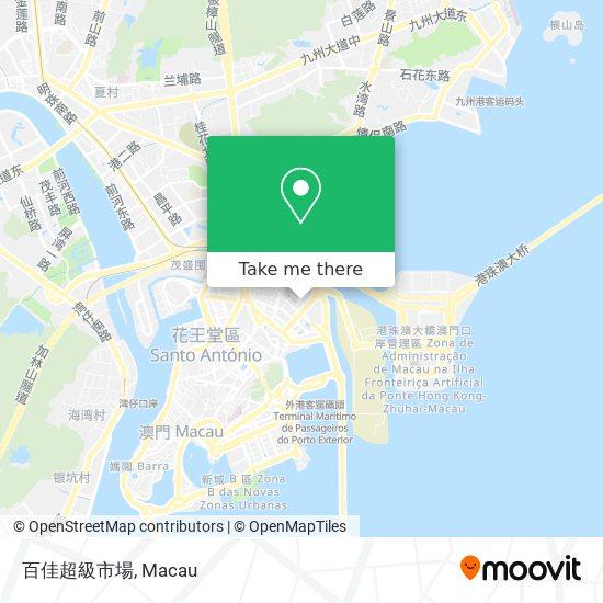 百佳超級市場 map