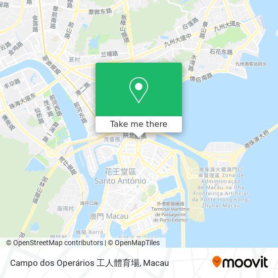 Campo dos Operários 工人體育場 map