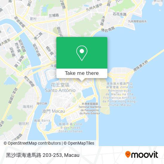 黑沙環海邊馬路 203-253 map