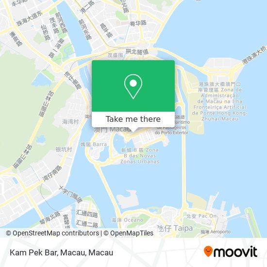 Kam Pek Bar, Macau map