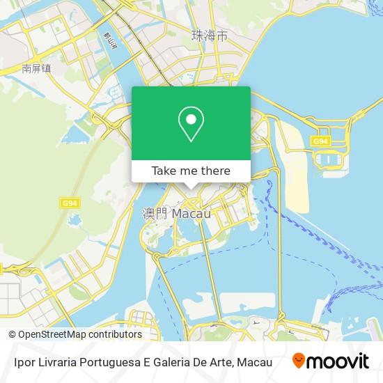 Ipor Livraria Portuguesa E Galeria De Arte map