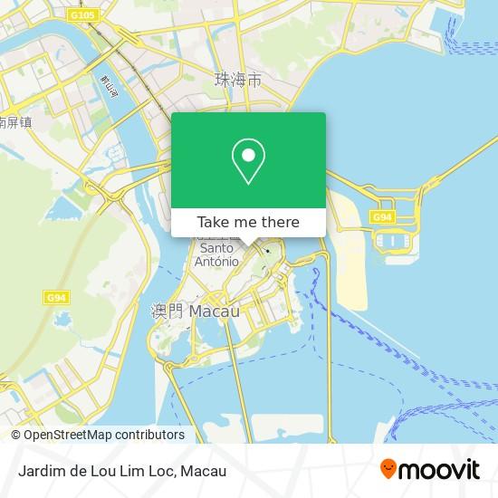 Jardim de Lou Lim Loc map