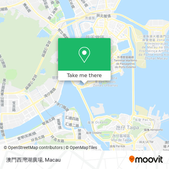 澳門西灣湖廣場 map