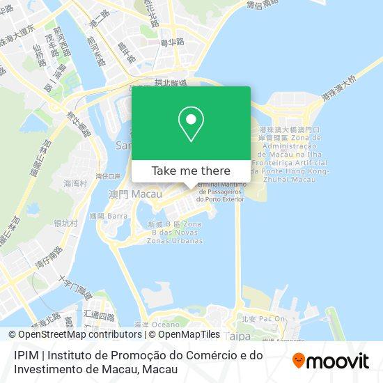 IPIM   Instituto de Promoção do Comércio e do Investimento de Macau map