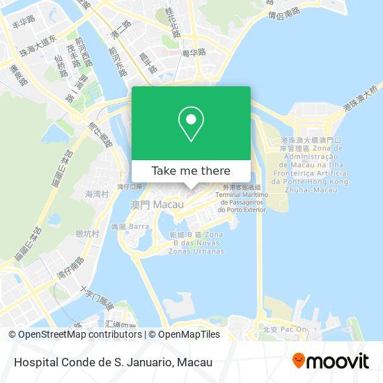 Hospital Conde de S. Januario map