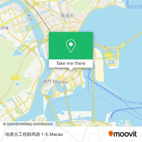 地厘古工程師馬路 1-5 map