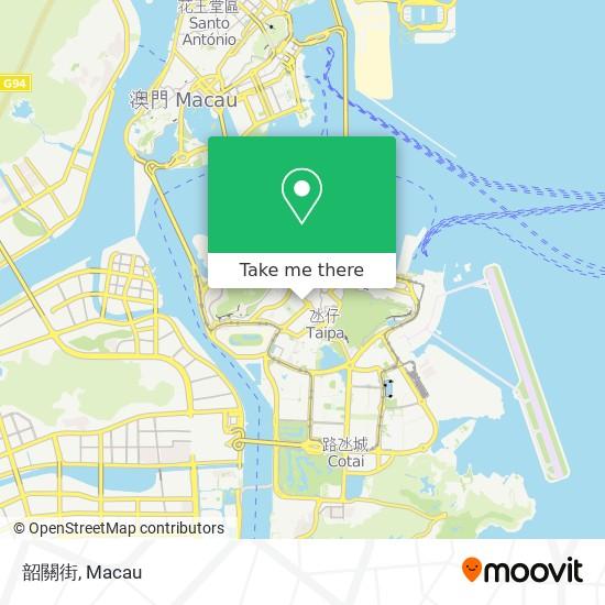 韶關街 map