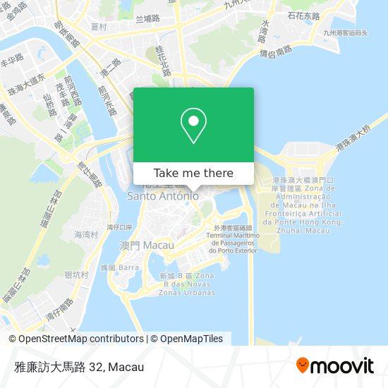 雅廉訪大馬路 32 map
