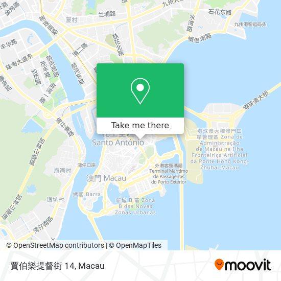 賈伯樂提督街 14 map