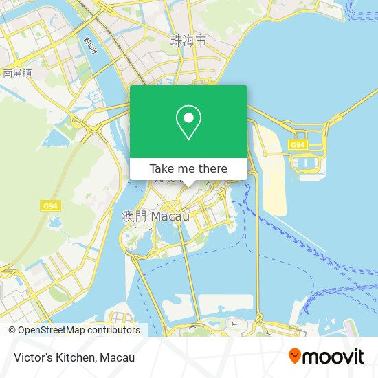 Victor's Kitchen map