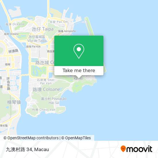 九澳村路 34 map