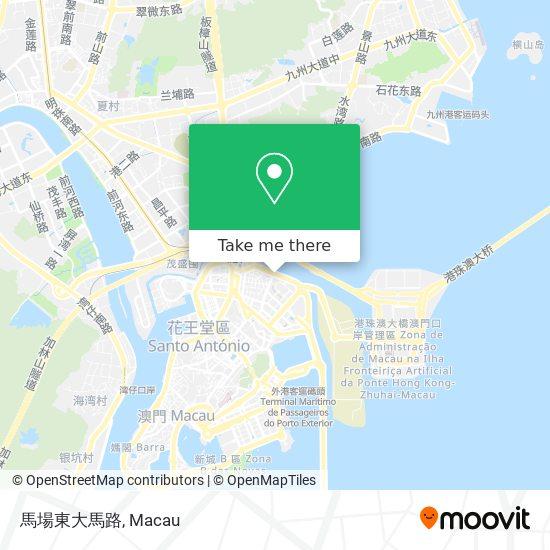 馬場東大馬路 map