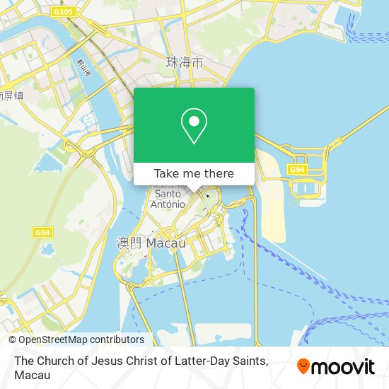 The Church of Jesus Christ of Latter-Day Saints map