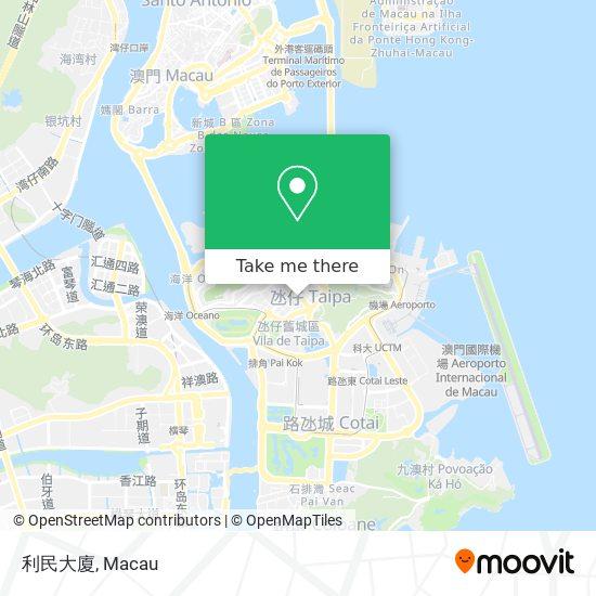 利民大廈 map