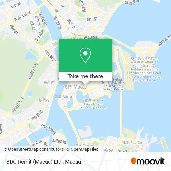 BDO Remit (Macau) Ltd. map
