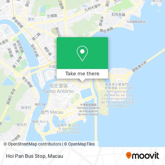 Hoi Pan Bus Stop map