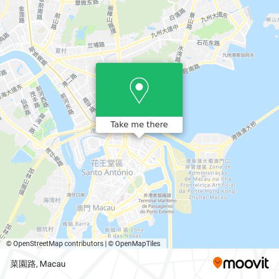 菜園路 map