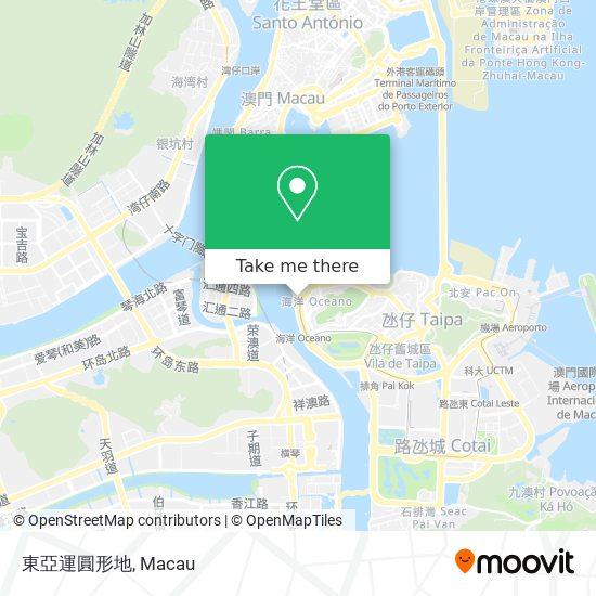東亞運圓形地 map