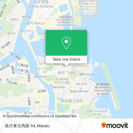 氹仔東北馬路 54 map