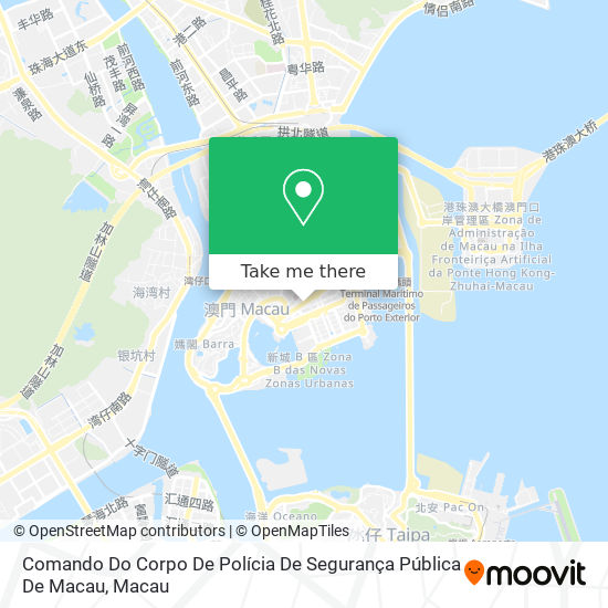 Comando Do Corpo De Polícia De Segurança Pública De Macau map