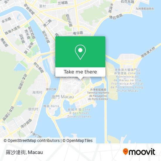 羅沙達街 map