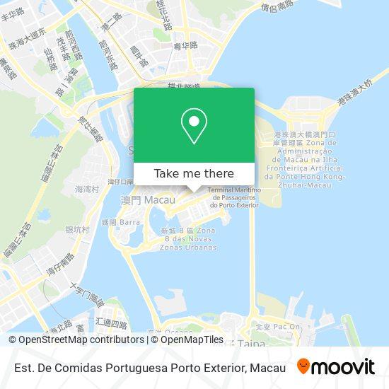 Est. De Comidas Portuguesa Porto Exterior map