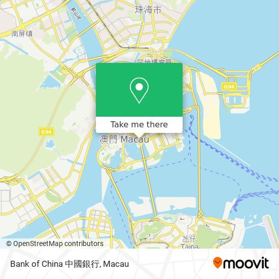 Bank of China 中國銀行 map