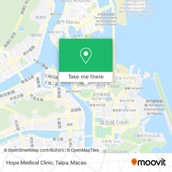 Hope Medical Clinic, Taipa map
