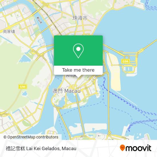 禮記雪糕 Lai Kei Gelados map