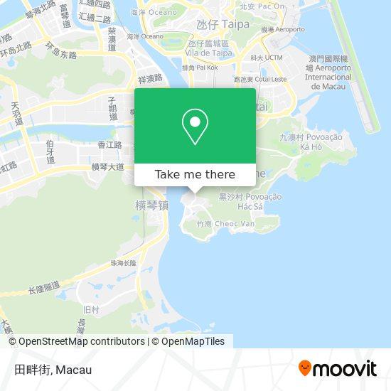 田畔街 map