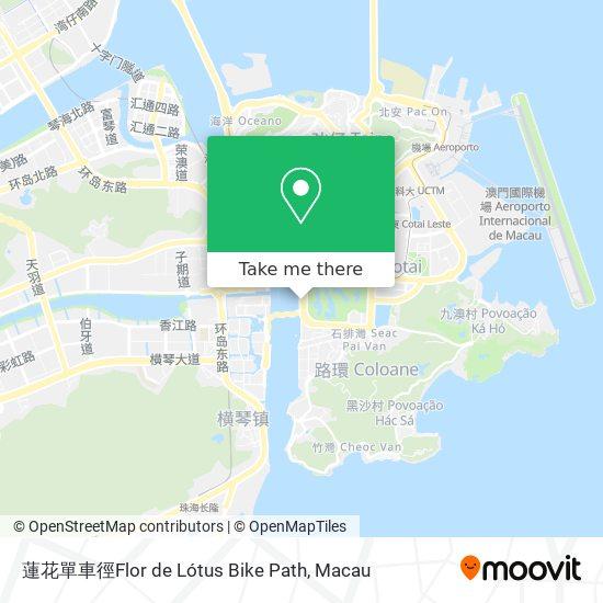 蓮花單車徑Flor de Lótus Bike Path map
