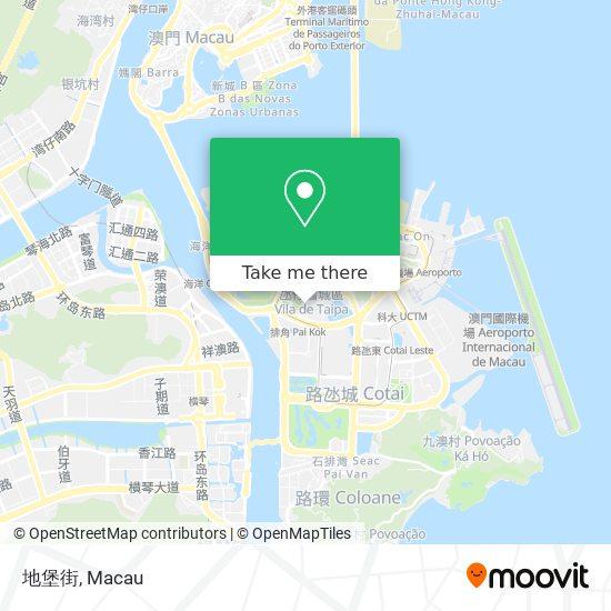 地堡街 map