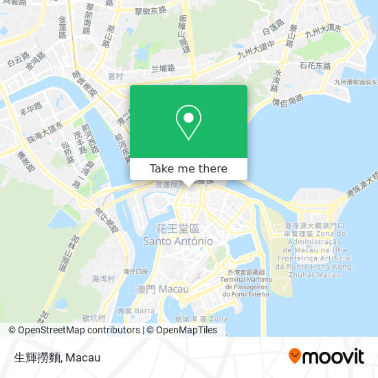 生輝撈麵 map