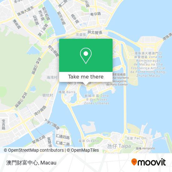 澳門財富中心 map