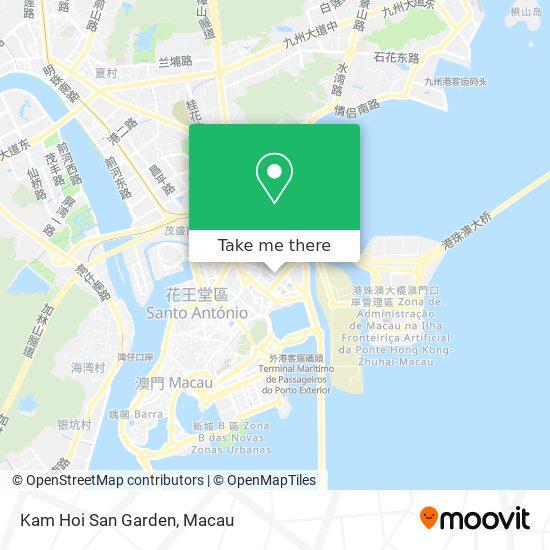 Kam Hoi San Garden map
