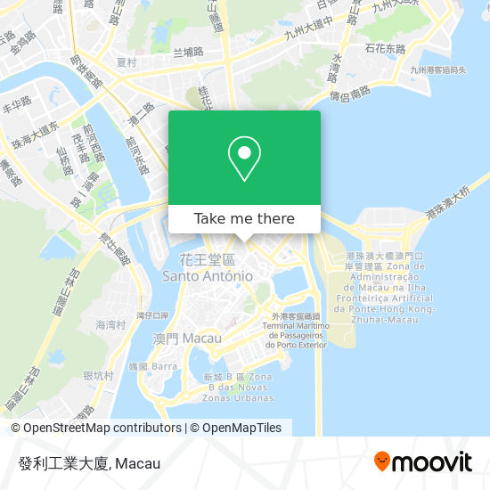 發利工業大廈 map
