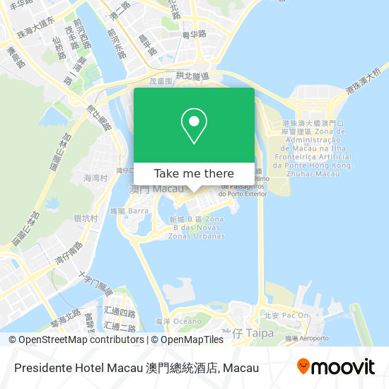 Presidente Hotel Macau 澳門總統酒店 map