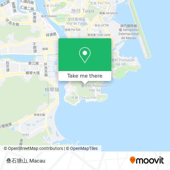 叠石塘山 map