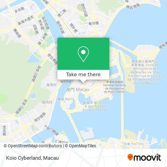 Koio Cyberland map
