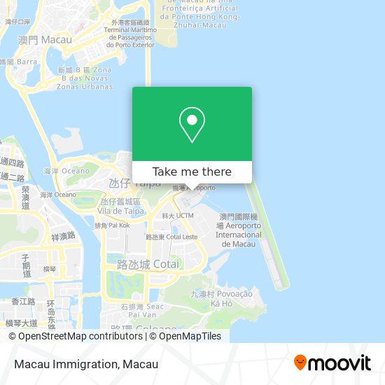 Macau Immigration map