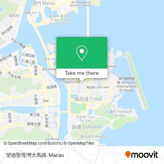 望德聖母灣大馬路 map