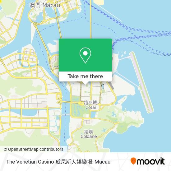 The Venetian Casino 威尼斯人娛樂場 map