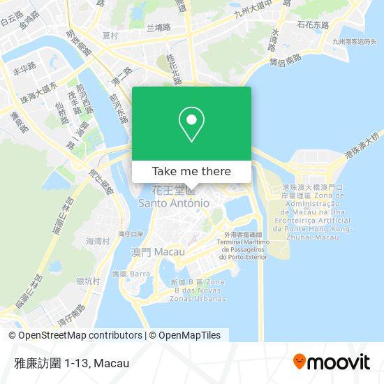 雅廉訪圍 1-13 map