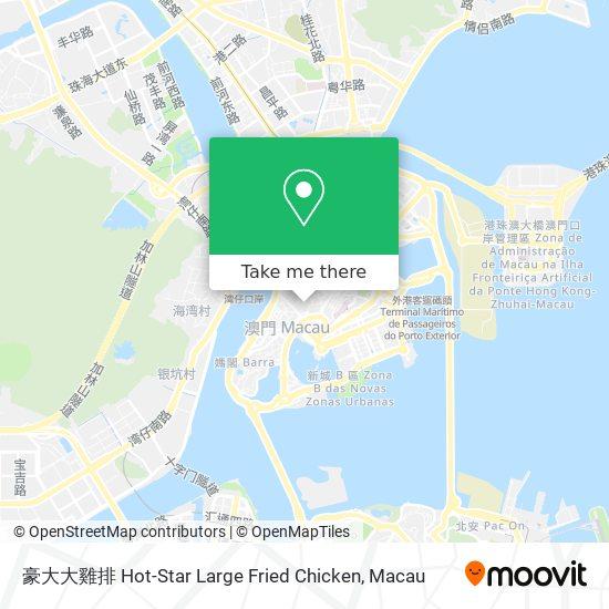 豪大大雞排 Hot-Star Large Fried Chicken map