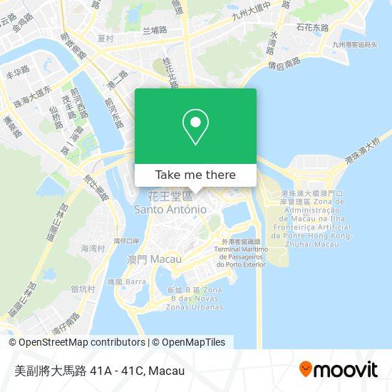 美副將大馬路 41A - 41C map
