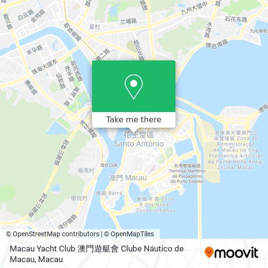 Macau Yacht Club 澳門遊艇會 Clube Náutico de Macau map