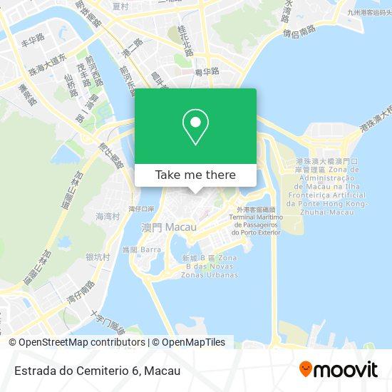 Estrada do Cemiterio 6 map