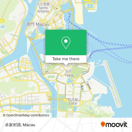 卓家村路 map