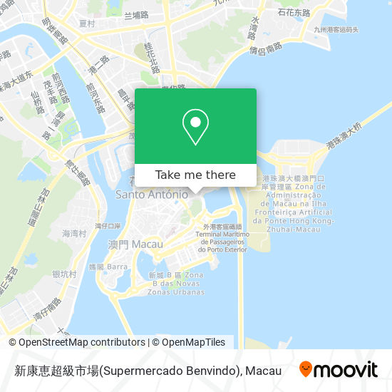 新康恵超級市場(Supermercado Benvindo) map